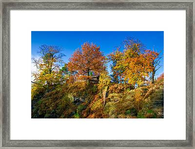 Golden Autumn On Neurathen Castle Framed Print