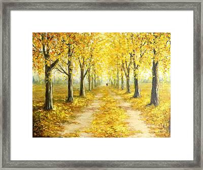 Golden Autumn Framed Print by Petrica Sincu