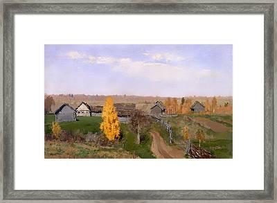 Golden Autumn Slobodka Framed Print