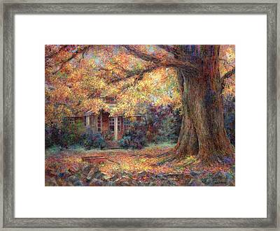 Golden Autumn Framed Print by Susan Savad