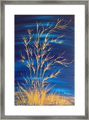 Golden Bamboo Framed Print by Pretchill Smith