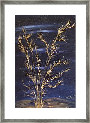Golden Bamboos 3 Framed Print by Pretchill Smith