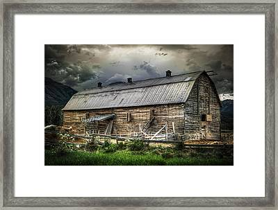 Golden Barn Framed Print