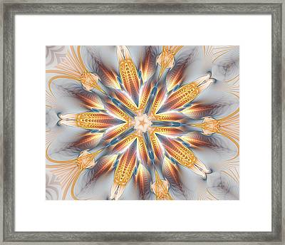 Golden Beach Kaleidoscope Framed Print