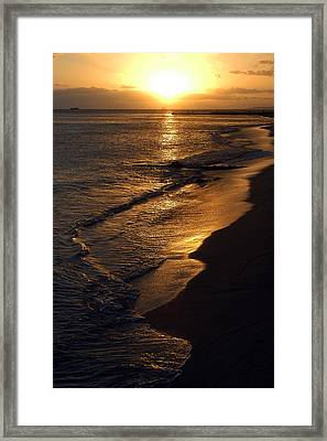 Framed Print featuring the photograph Golden Beach by Yue Wang