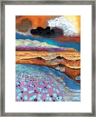 Golden Beach1 Framed Print by Vicky Tarcau