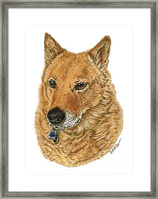 Golden Beauty Framed Print by Val Miller