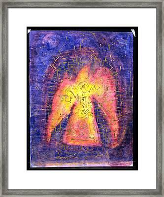 Golden Bird Rising, 1992 Mixed Media On Paper Framed Print