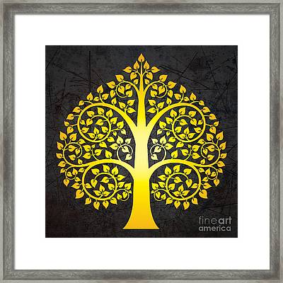 Golden Bodhi Tree No.3 Framed Print by Bobbi Freelance
