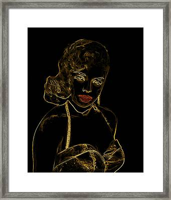 Golden Bombshell Man Ray Homage Framed Print by Brian King