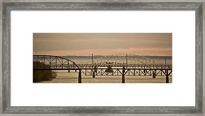 Golden Bridge Framed Print