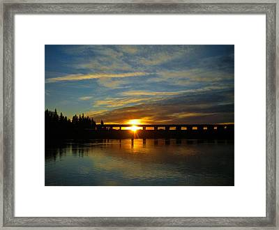 Golden Bronze Sunset Framed Print