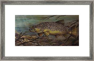 Golden Brown Framed Print by Kathy Lovelace