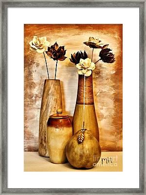 Golden Brown Toned Still Framed Print by Marsha Heiken