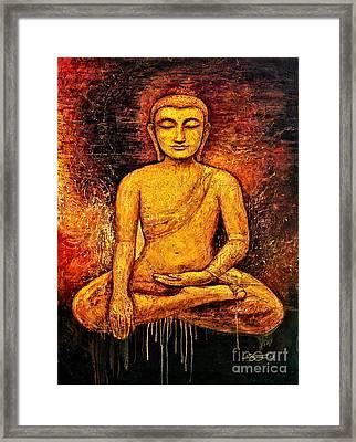 Golden Buddha 2 Framed Print by Shijun Munns