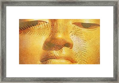 Golden Buddha - Art By Sharon Cummings Framed Print