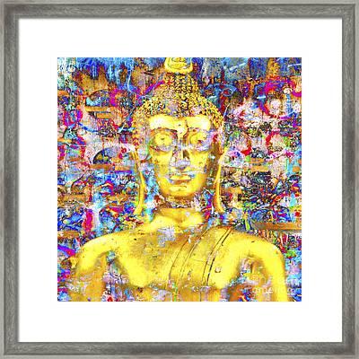 Golden Buddha Framed Print by Derek Selander