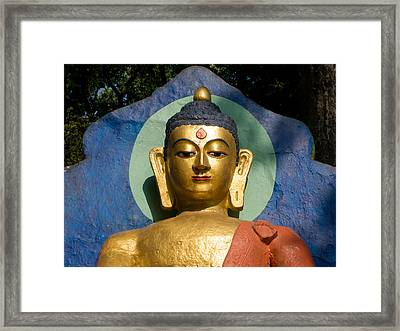 Golden Buddha Framed Print by Nila Newsom
