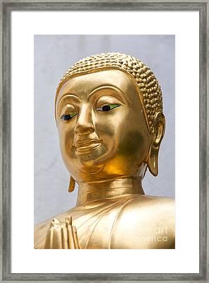 Golden Buddha Statue Framed Print by Antony McAulay