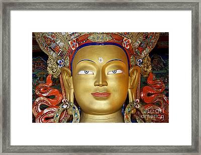Golden Buddha Statue Ladakh Framed Print by Robert Preston