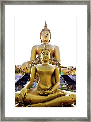 Golden Buddha Statue  Framed Print