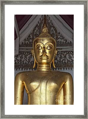 Golden Buddha Temple Statue Framed Print by Antony McAulay