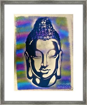 Golden Buddha Framed Print by Tony B Conscious