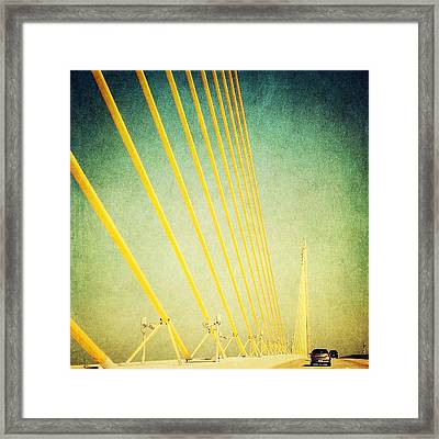 Golden Cables Framed Print by Beth Williams