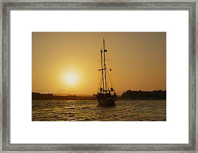 Framed Print featuring the photograph Golden Cabo Sunset by Christine Till