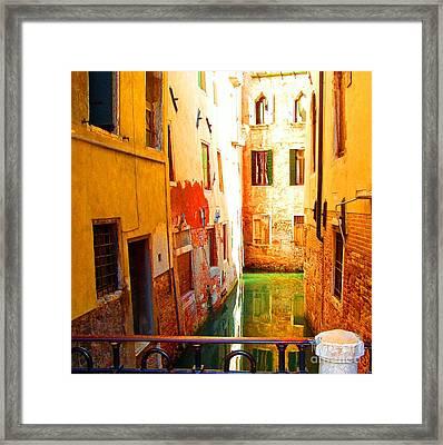Golden Canal Framed Print