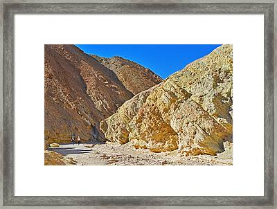 Framed Print featuring the photograph Golden Canyon - Death Valley by Dana Sohr
