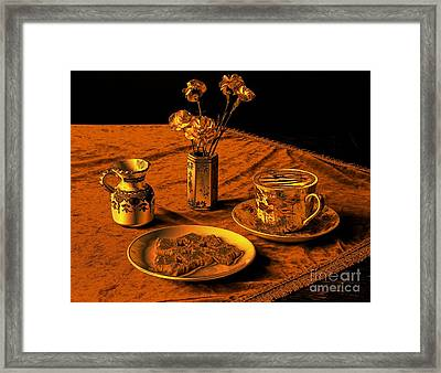 Golden Cappuccino Framed Print