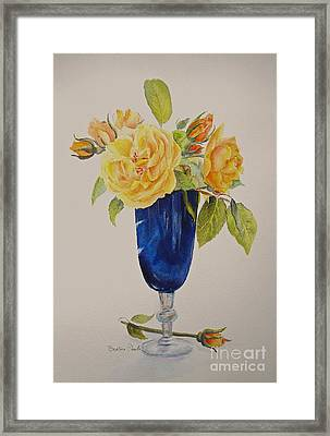 Framed Print featuring the painting Golden Celebration by Beatrice Cloake