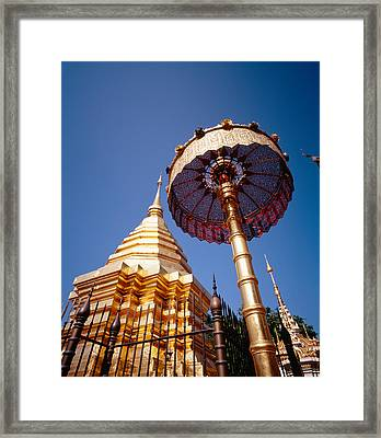 Golden Chedi, Wat Phrathat Doi Suthep Framed Print by Panoramic Images