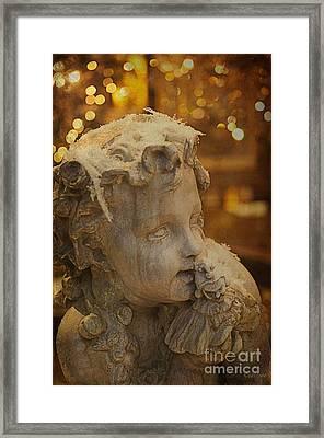 Golden Cherub Framed Print by Terry Rowe