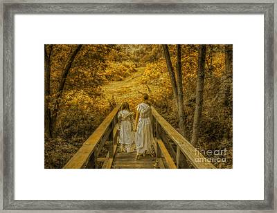 Golden Childhood Memories Framed Print