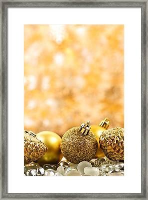 Golden Christmas  Framed Print by Elena Elisseeva