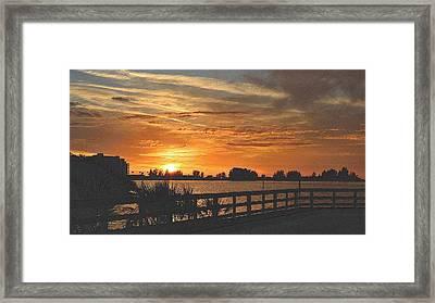 Golden Christmas Sunset 2 Framed Print