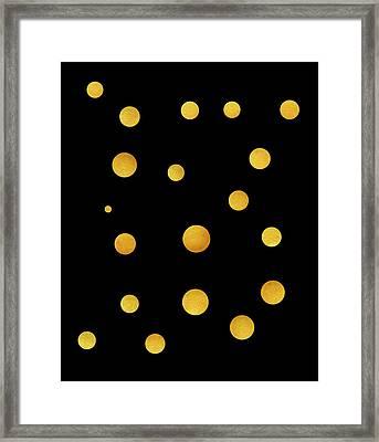 Golden Circles Framed Print by Frank Tschakert