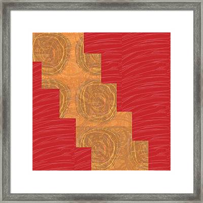 Framed Print featuring the photograph Golden Circles Red Sparkle  by Navin Joshi