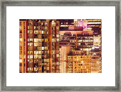 Framed Print featuring the photograph City Of Vancouver - Golden City Of Lights Cdlxxxvii by Amyn Nasser