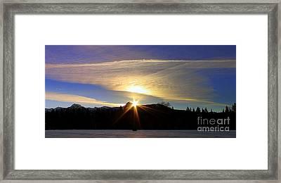 Golden Clouds Framed Print by Irina Hays