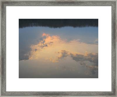 Golden Clouds On Water Framed Print by Jaime Neo