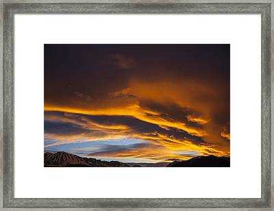 Golden Clouds Over Sierras Framed Print by Garry Gay
