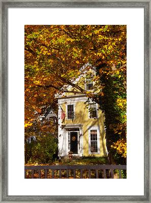 Golden Colonial Framed Print
