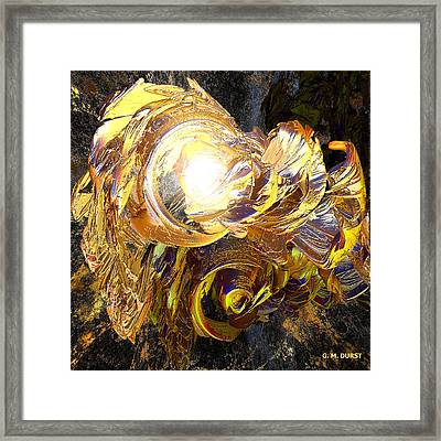 Golden Core Framed Print