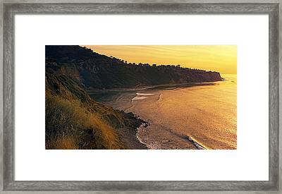 Golden Cove Framed Print