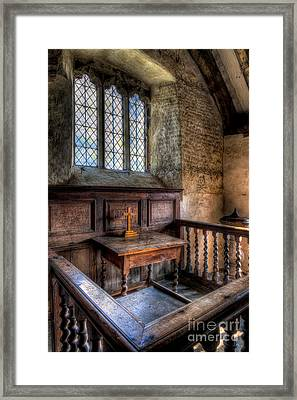 Golden Cross Framed Print by Adrian Evans