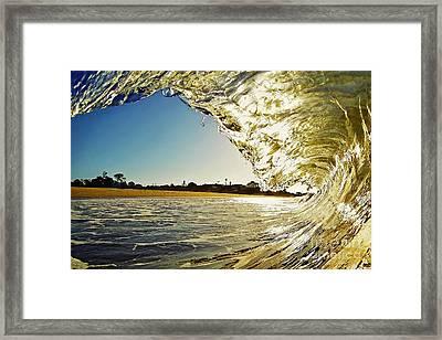 Golden Curtain Framed Print by Paul Topp