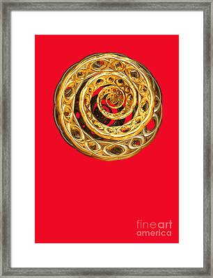 Golden Cycle Of Life By Jammer Framed Print by First Star Art